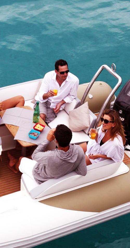 santorini boat island private tour