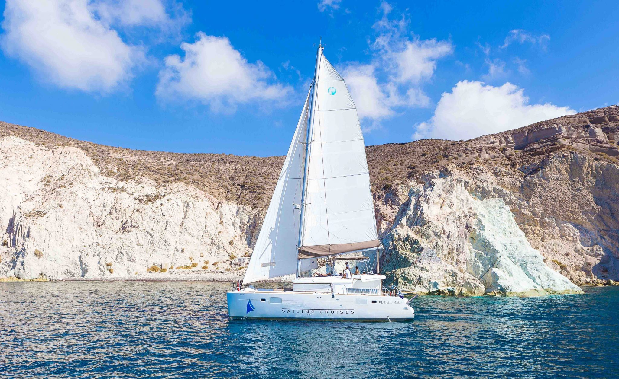 santorini catamaran private tour